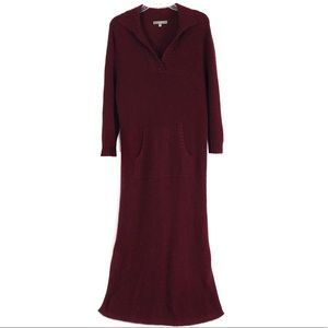 Neiman Marcus Cashmere Cranberry Sweater Dress